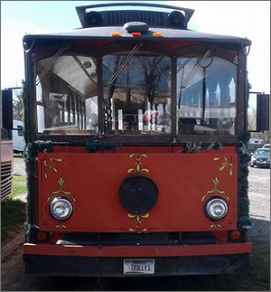 Vintage Billings Trolley Front View at Total Transportation