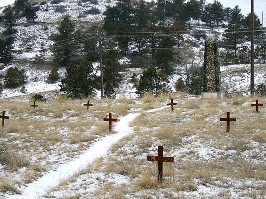 Boot Hill Cemetery mount crosses