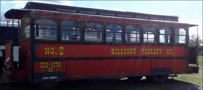 Billings Trolley Vintage Trolley